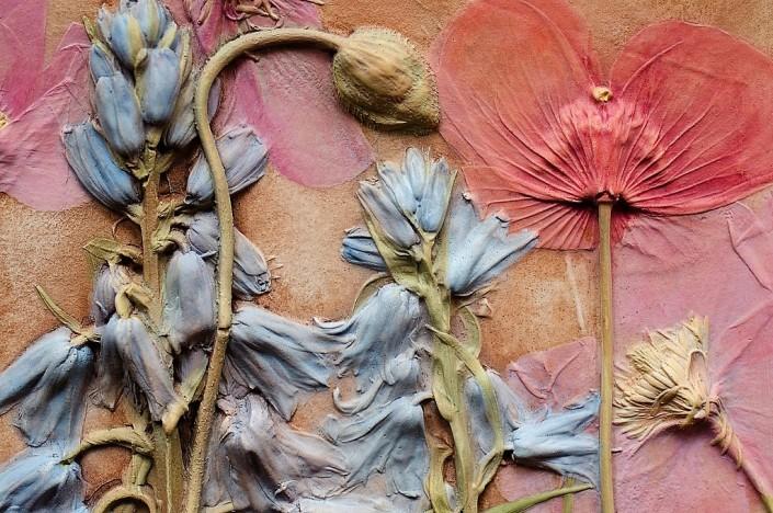 Clare Mahoney botanical wall hanging