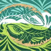 lino in colour fish335
